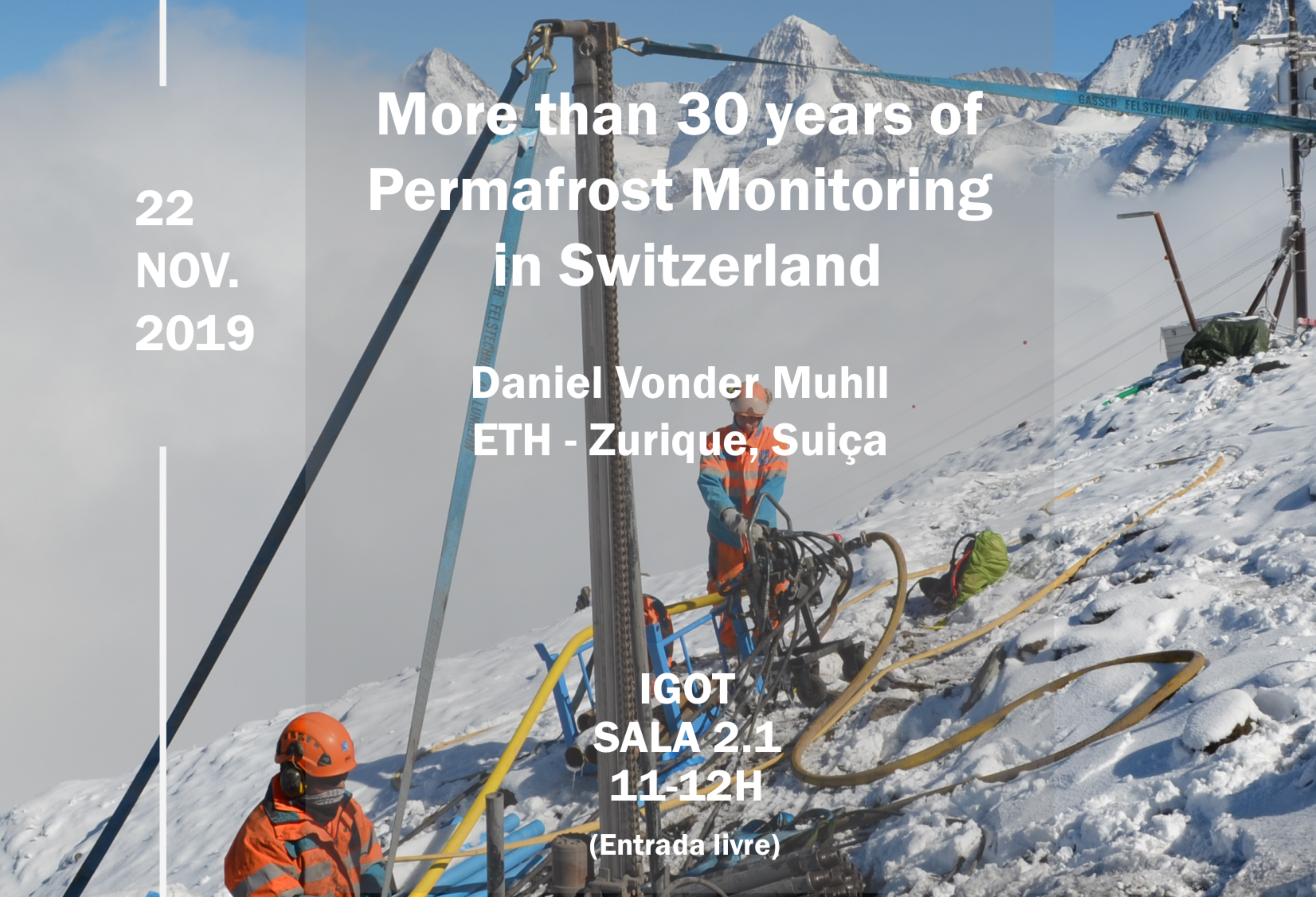 "Palestra ""More than 30 years of permafrost monitoring in Switzerland"""